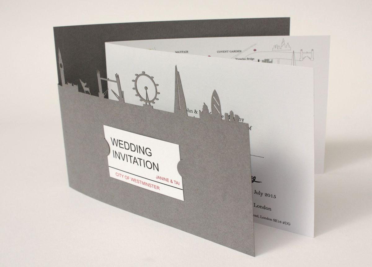 Wedding invitations artisan model makers laser cut wedding invite stopboris Gallery