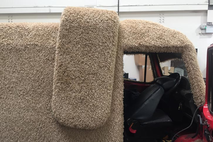 fibreglass GRP carpet ear mutt cutts dog van artisan