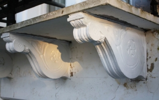 Fibreglass corbel architectural restoration