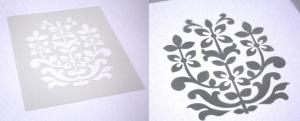 laser cut mylar stencil