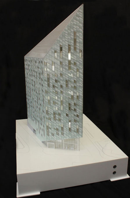Acrylic architectural model.