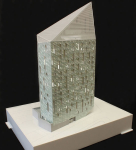Architectural model of City Road hotel for Squire and Partners