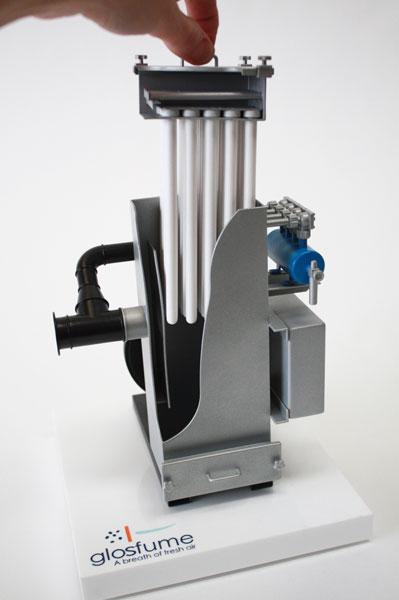 Industrial display model Glosfume 3D printed