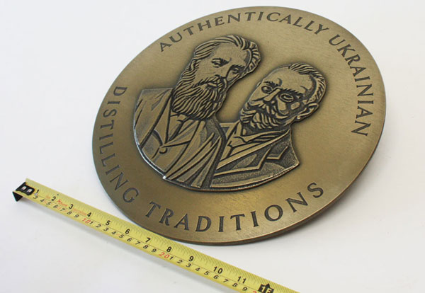 Cold Cast brass medallions for Harrods window Display