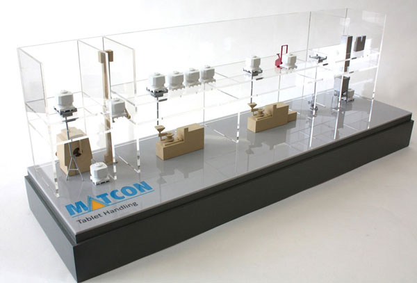 Industrial Pharmaceutical Model of factory floor for Matcon