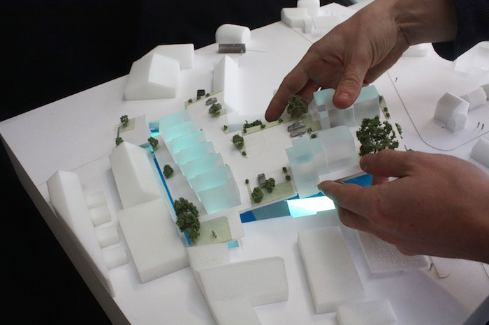 acrylic architectural model site pad