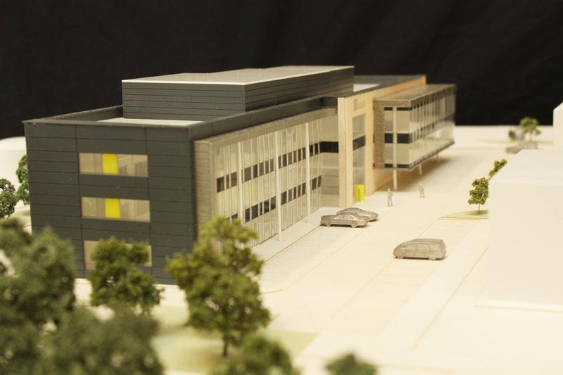 Kier Moss HQ architectrual model