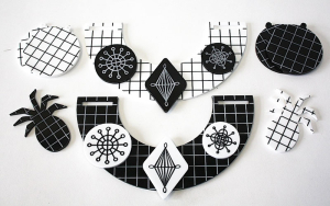 Laser cut acrylic jewellery