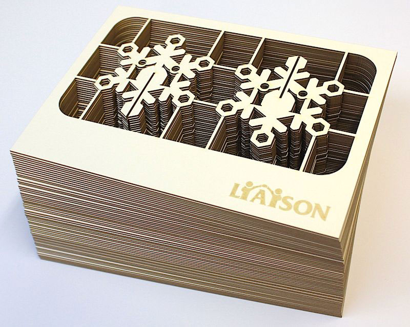 Laser cut christmas cards