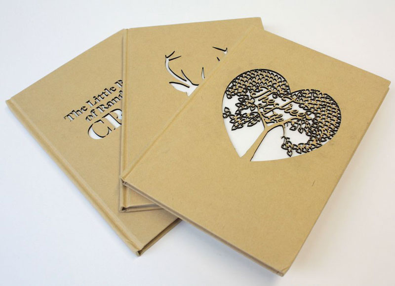 Laser cut card books