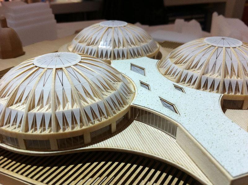 Laser cut dome stidies