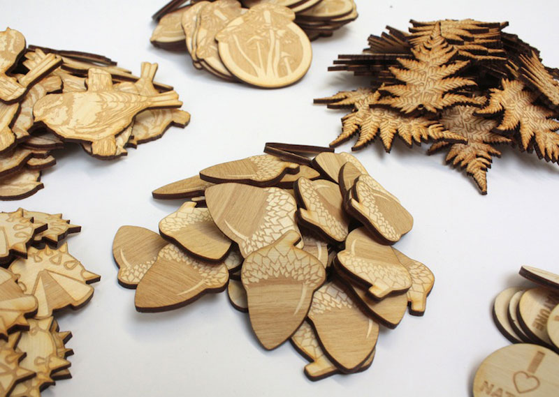 Laser cut plywood