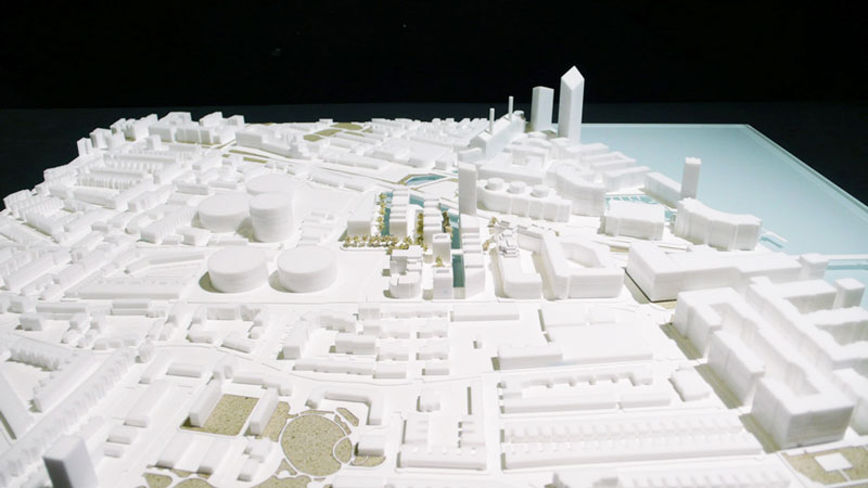 Architectural masterplan model