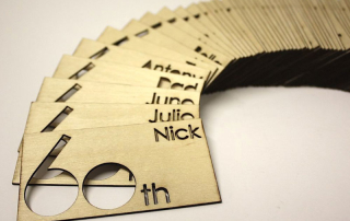 Wood name tags