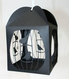 Laser cut birdcage