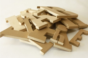 3d MDF letters