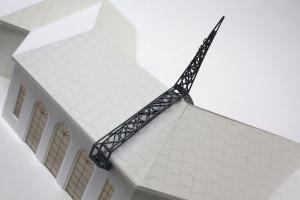 Art installation architectural model
