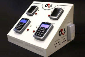 Bespoke acrylic display unit for G4S.
