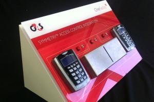 Bespoke acrylic display unit for G4S.