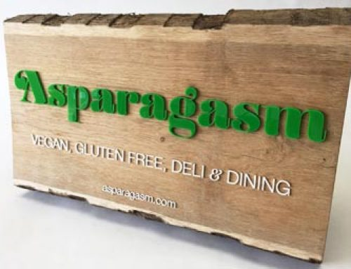 Bespoke signage for Asparagasm