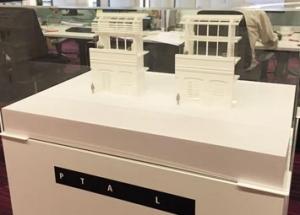 White architectrual bay study.