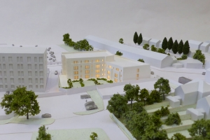 Architectural model 1:200 scale Franklin House Bourneville
