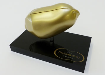 Bespoke award prop positively nutty