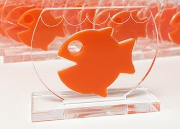 laser cut acrylic goldfish