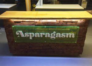 glow in the dark resin oak bar top