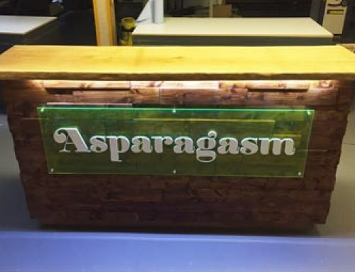 Asparagasm glow-in-the-dark bar top