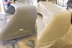 custom foam fibreglass grp carbon fibre spoiler for sega rally car