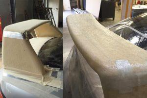 Custom foam fibreglass grp carbon fibre spoiler