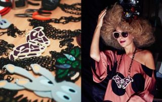 laser cut acrylic jewellery for VIN + OMI at London Fashion Week