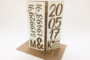 Laser cut card wedding invitations, bespoke and beautiful wedding ideas.