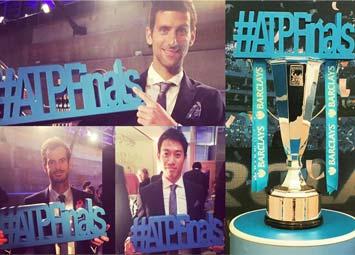 3D logo prop ATP finals
