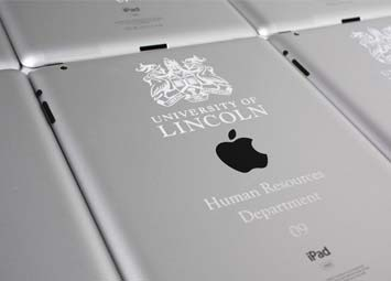 Laser etched engraved iPad