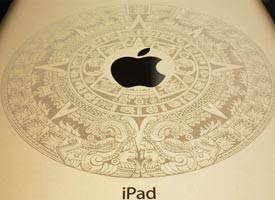 Engraved ipad with Aztec design.