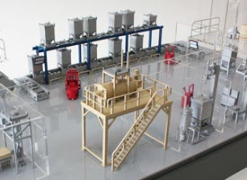 Industrial factory model for model making project.