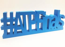 3d large letters, prop cut using cnc mill.