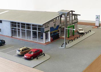 architectural commercial model skoda dealership
