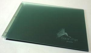 laser engraved acrylic portfolio cover
