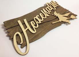 Bespoke wood sign