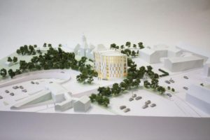 White architectural planning model