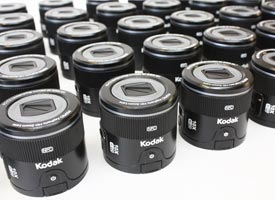 Corporate gifts for Kodak, model replicas of a product.