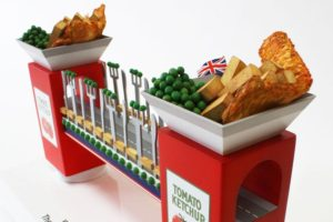 Great british fish and chips prop making model