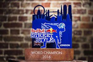 red bull street style bespoke trophy