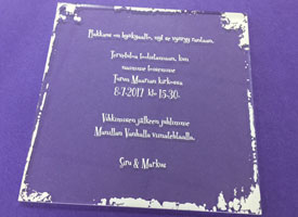 Laser cut acrylic wedding invitation