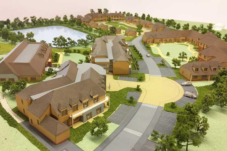 Full colour architectural sales model