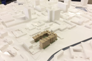 Simple massed architectural model for planning application
