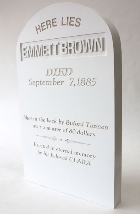 Prop tombstone 'Back to the Future'